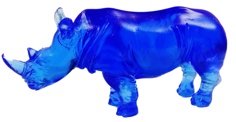Bejeweled Blue Rhinocerous