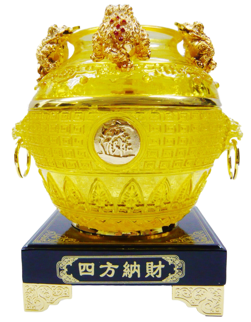 Golden Wealth Abundance Pot