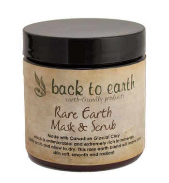 Back To Earth- Rare Earth Facial Scrub & Mask with Baobab Oil 4oz/120ml