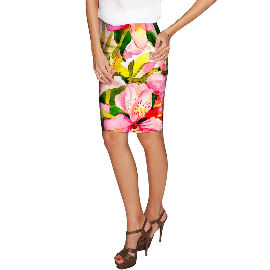 Havana Flash Carol Bright Summer Knit Pencil Skirt