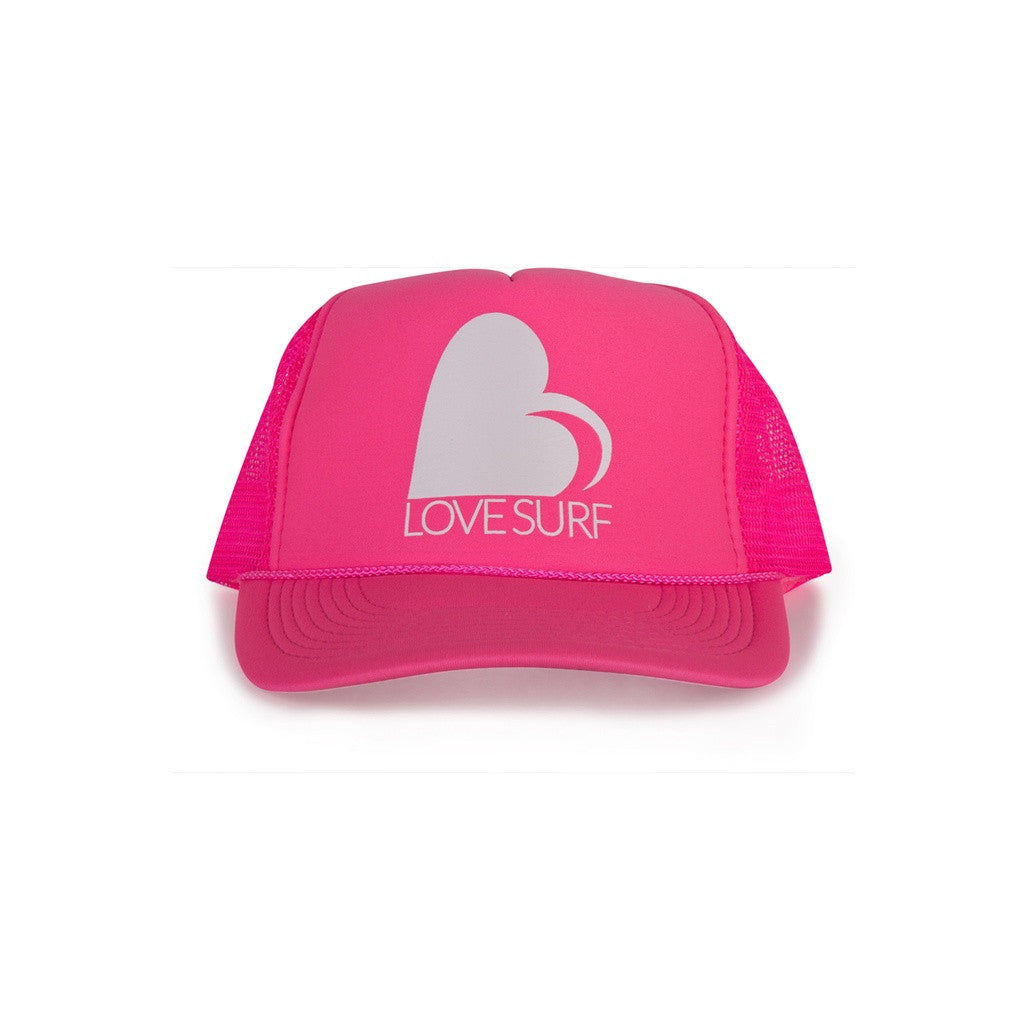 Love Surf Neon Logo Trucker Hat