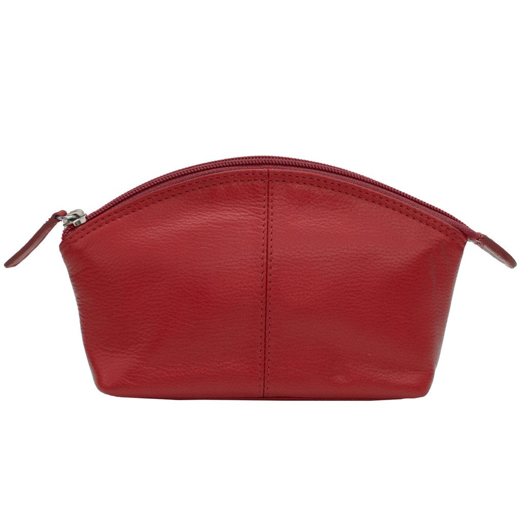 Leather Cosmetic Case - Red