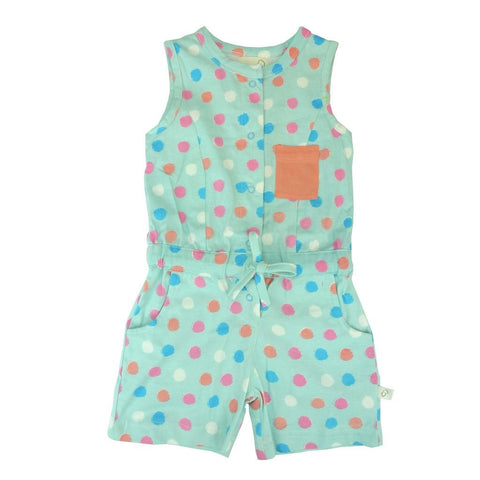 Organic Dot Print Short Jumpsuit