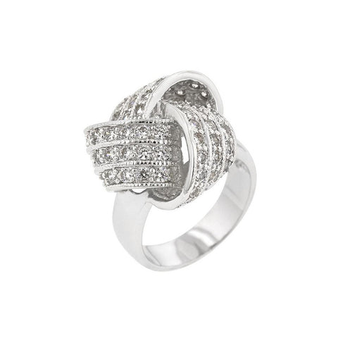 Knotted CZ Ring