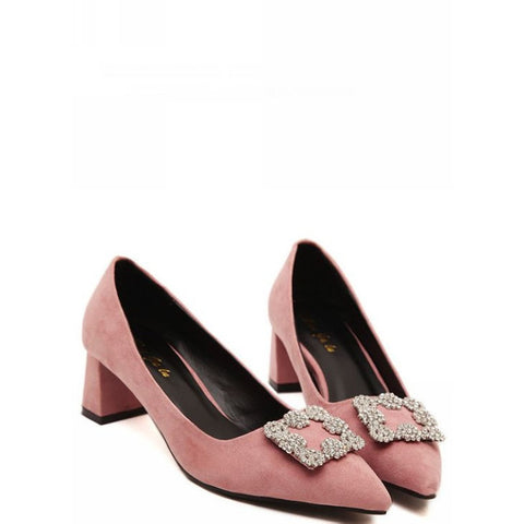 Square Soft Style High Heel Shoes LAVELIQ