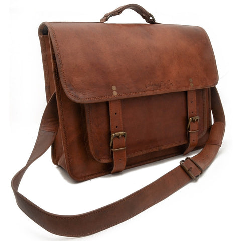 Leather Business Laptop Messenger