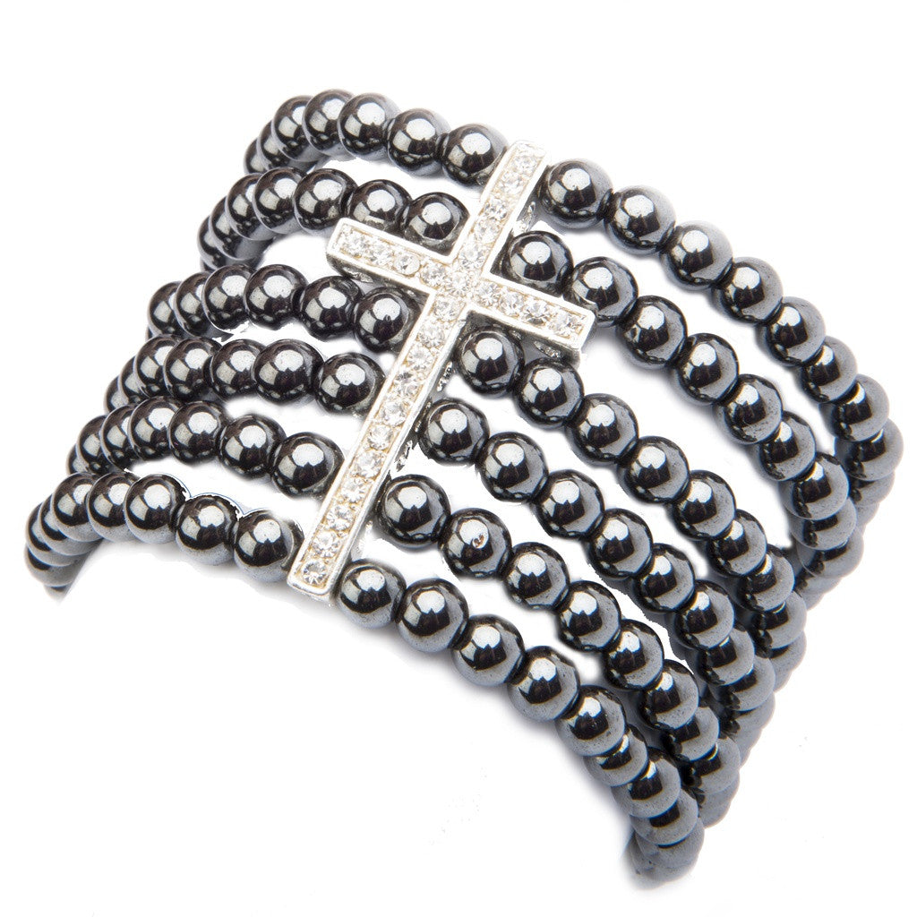 Angelica Cuff Bracelet- Peace Love Bling - Shopstara