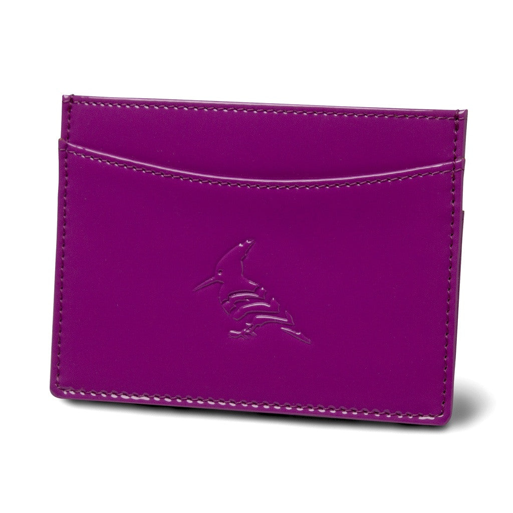 Plum Patent Leather Cardholder Wallet - Pipit