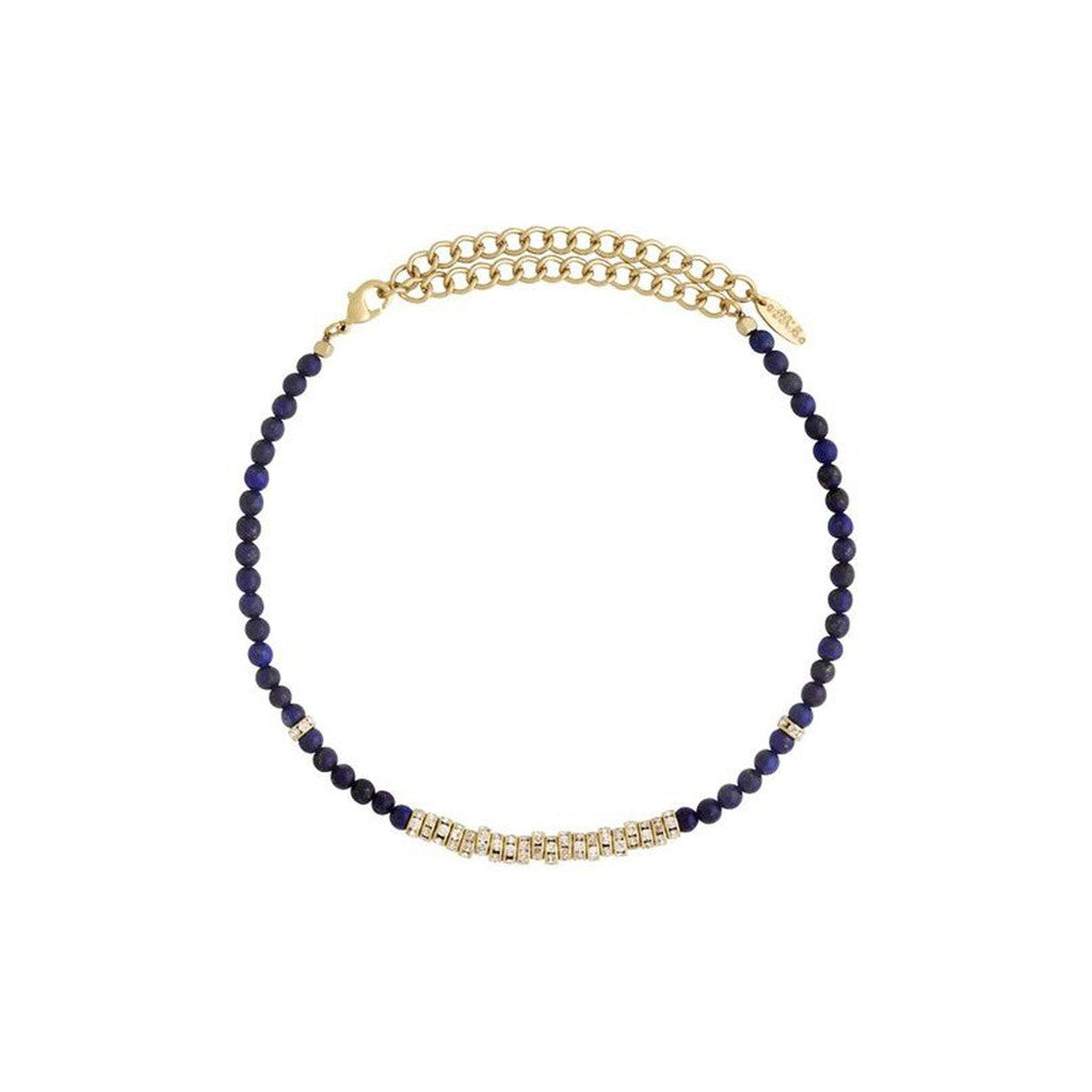 Crystal Overload Choker in Lapis and Gold