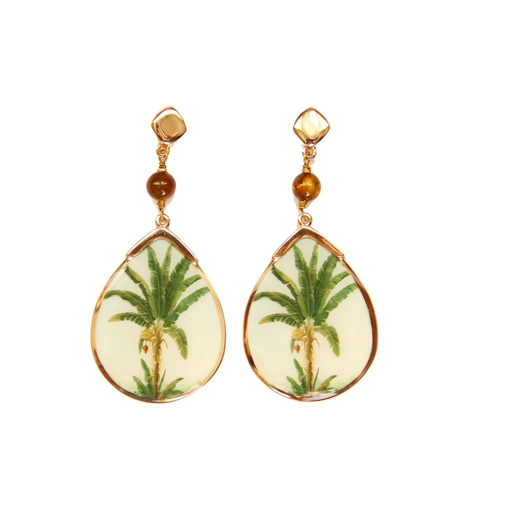 Brazilian Banana Tree Earrings