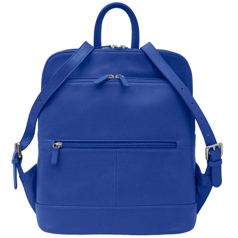 Leather Backpack - Cobalt