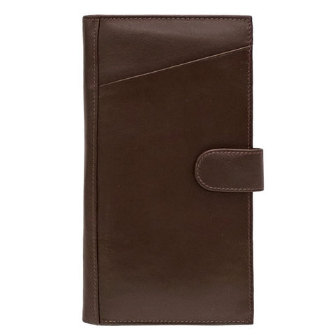 Rfid Blocking Leather Travel Wallet - Brown