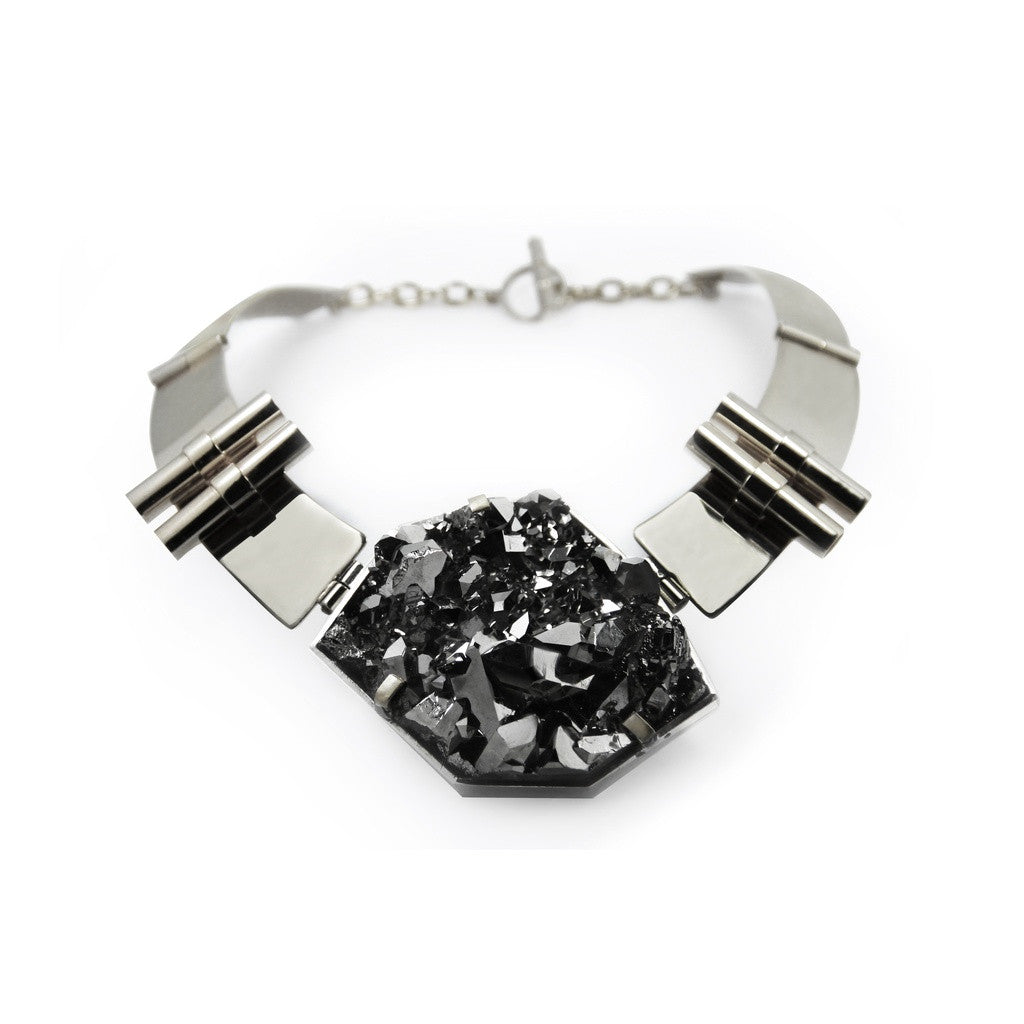 Crystal Ore Silver Necklace