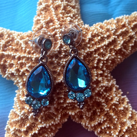 Topaz Gemstone Fashion Earrings