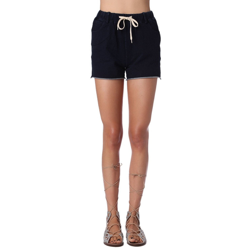Jean Sweat Shorts With Drawstring Waistband