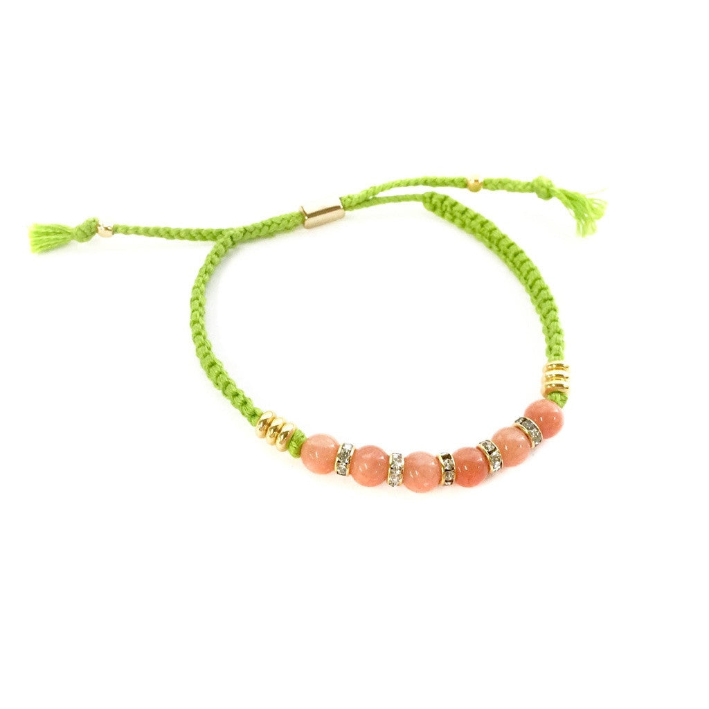 Bestie Bracelet in Orange and Lime- Ettika - Shopstara