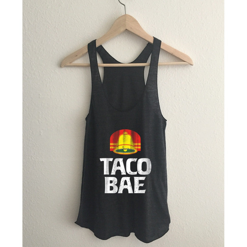 Taco Bae Tri Blend Athletic Racerback Tank Top