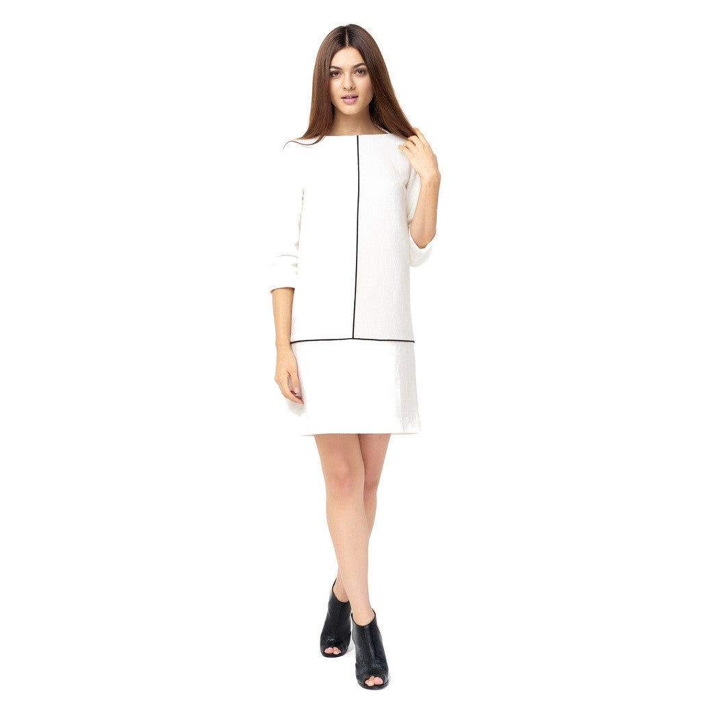 Refined Woolen White Dress