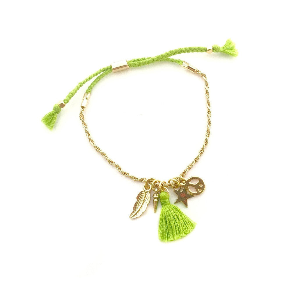 Pretty N' Charming Bracelet in Lime