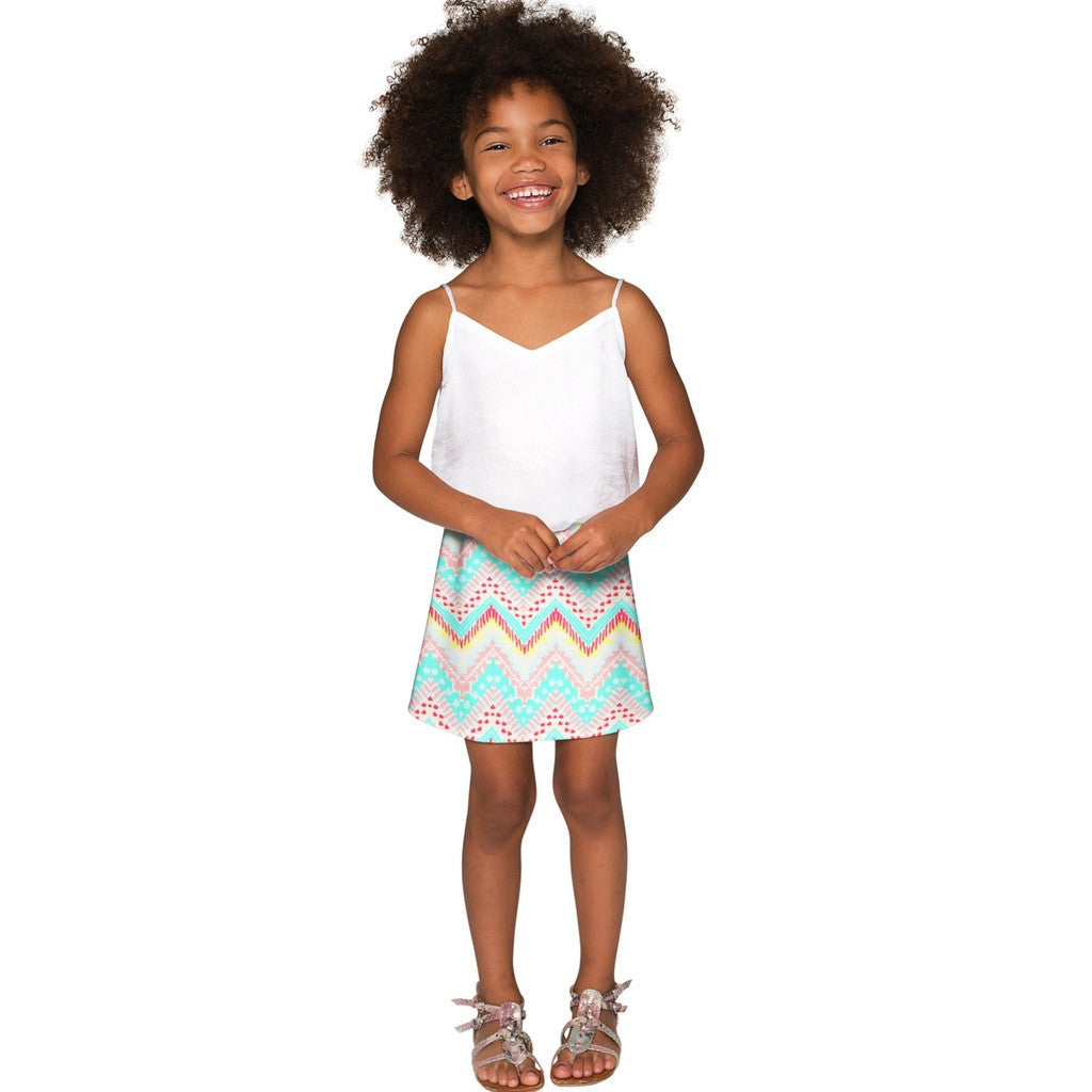 Chevron Please Aria A-Line Skirt - Girls