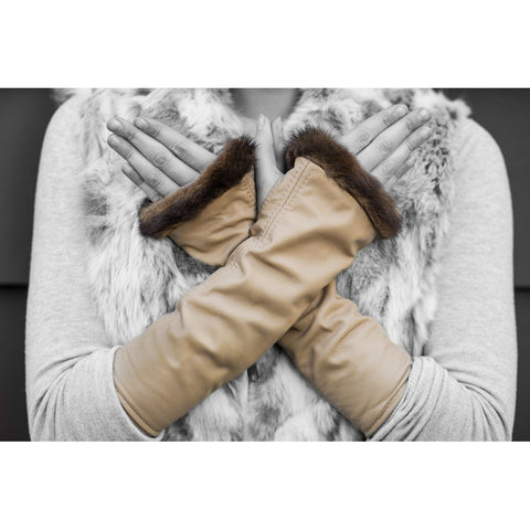 Tan Knuckle Duster Gloves