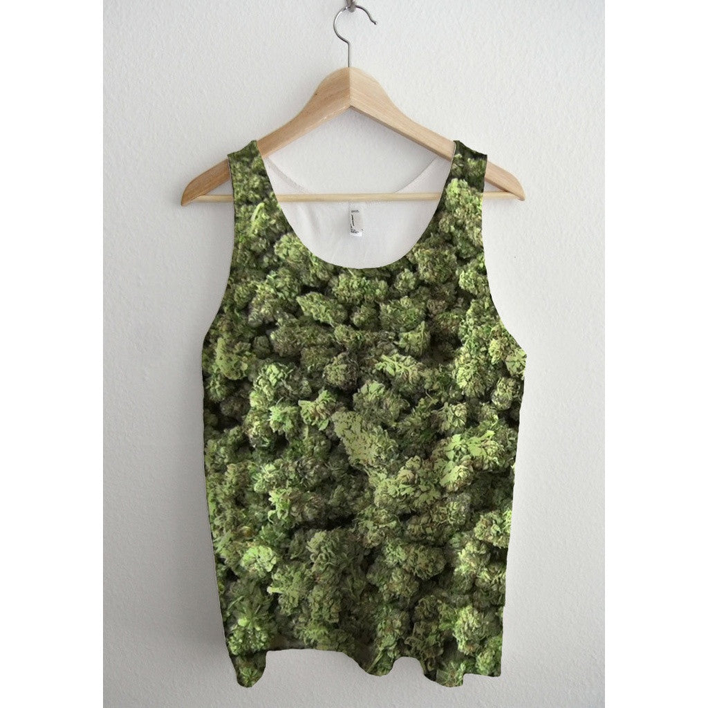 Sticky Dank Weed Nuggets All Over Print Unisex Tank Top