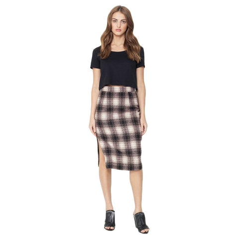 Margo Plaid Pencil Skirt