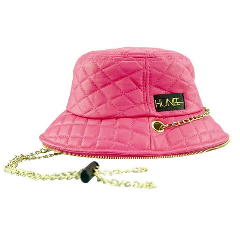 Pink Quilted Bucket Hat