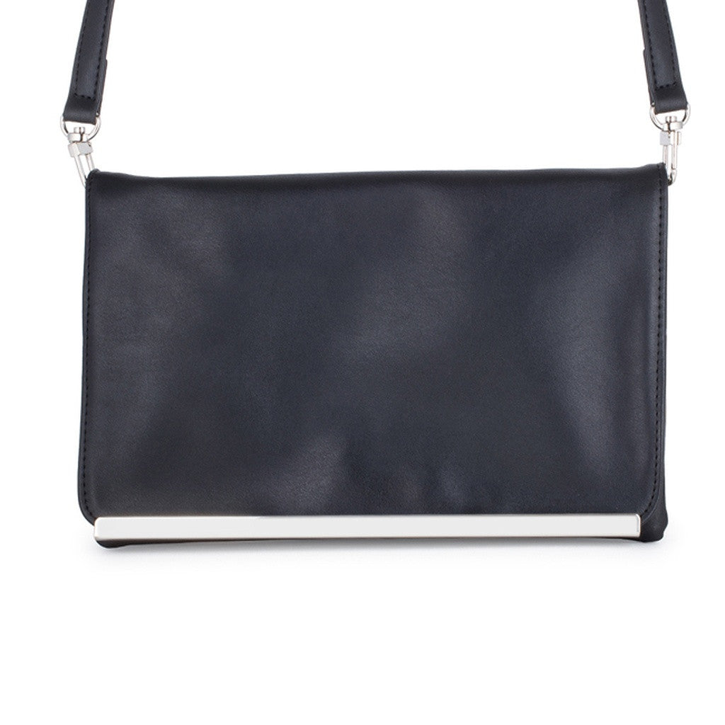 Black & Silver Bar Purse
