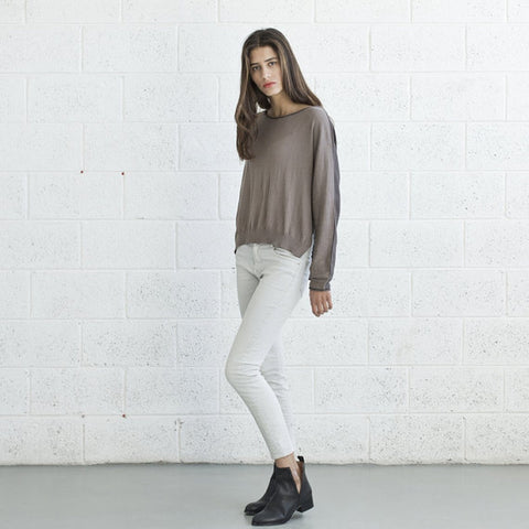 Color Block Sweater- Brown.