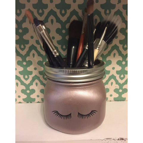 Rose Gold Lash Makeup Brush Holder