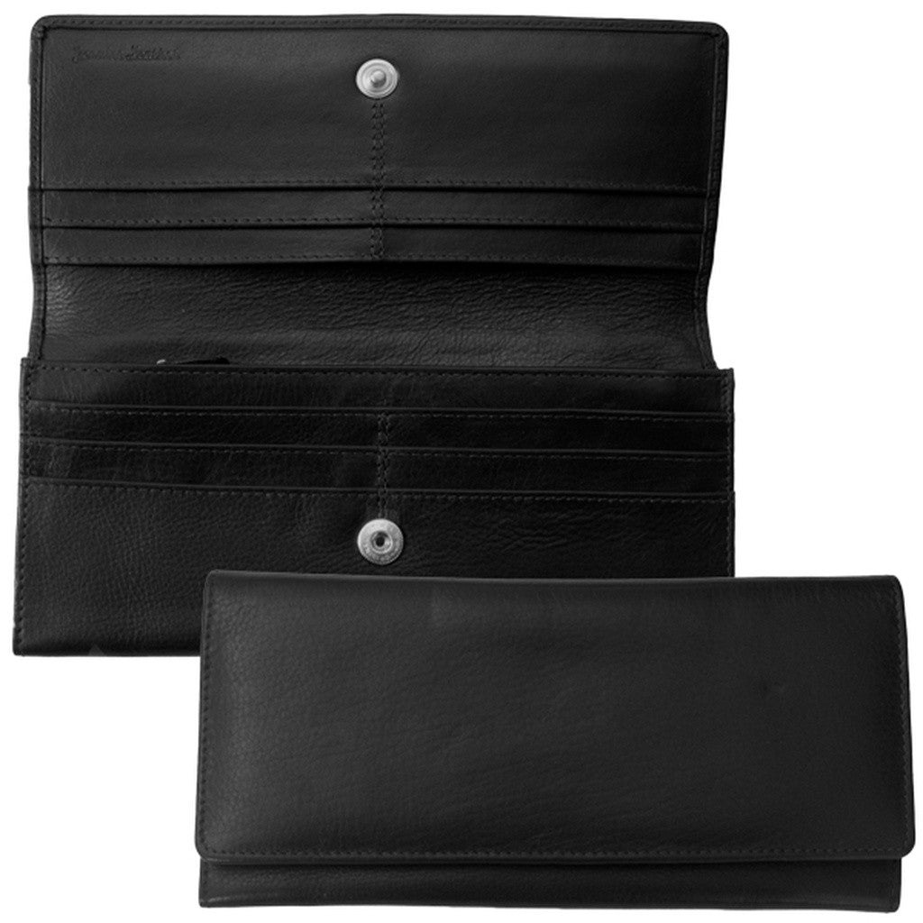 Rfid Blocking Classic Leather Wallet - Black