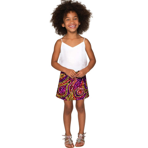 Vibrant Galaxy Aria A-Line Skirt - Girls