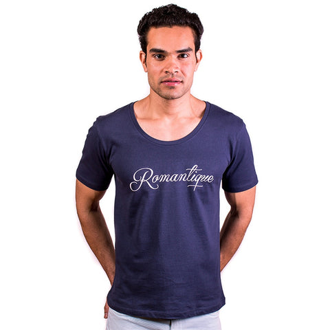 Romantique - Wide Neck Men T-Shirt