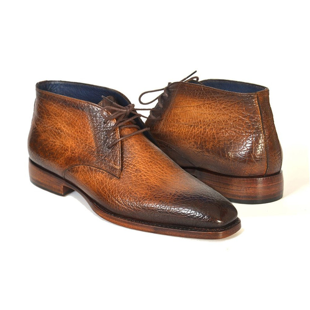 Paul Parkman Men's Chukka Boots Brown & Camel (ID#FG55-CML)