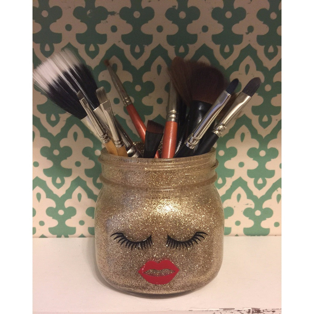 Gold Lash Makeup Brush Holder