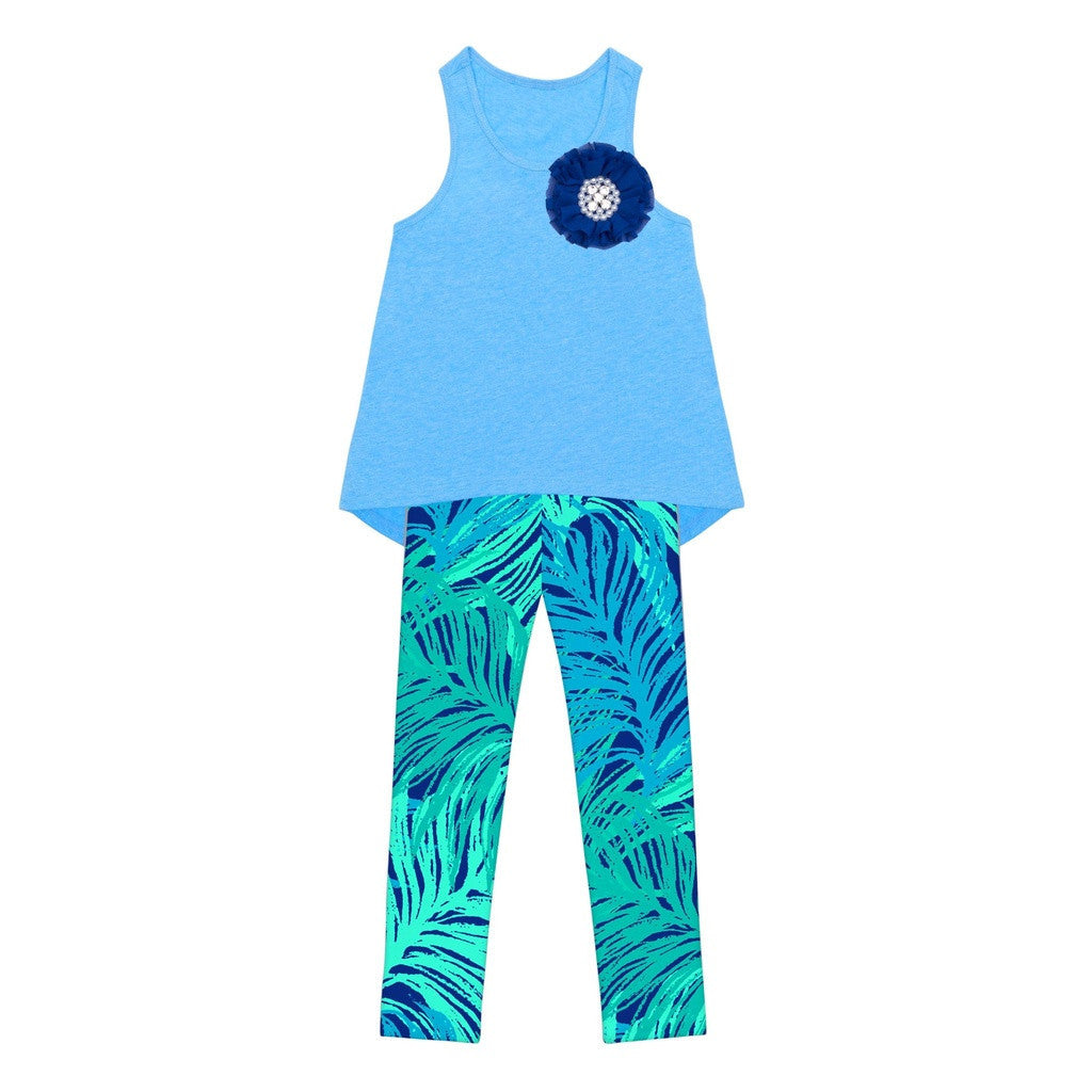 Blue Tropical Dream Donna Set - Girls