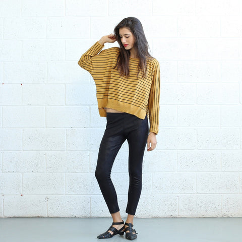 Stripes Kimono Sweater-Yellow
