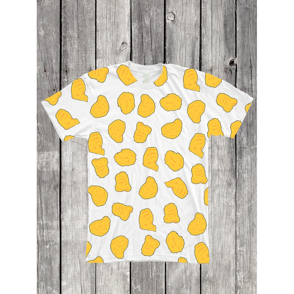 Chicken Nuggets Kawaii Cartoon Pattern Full Print T Shirt