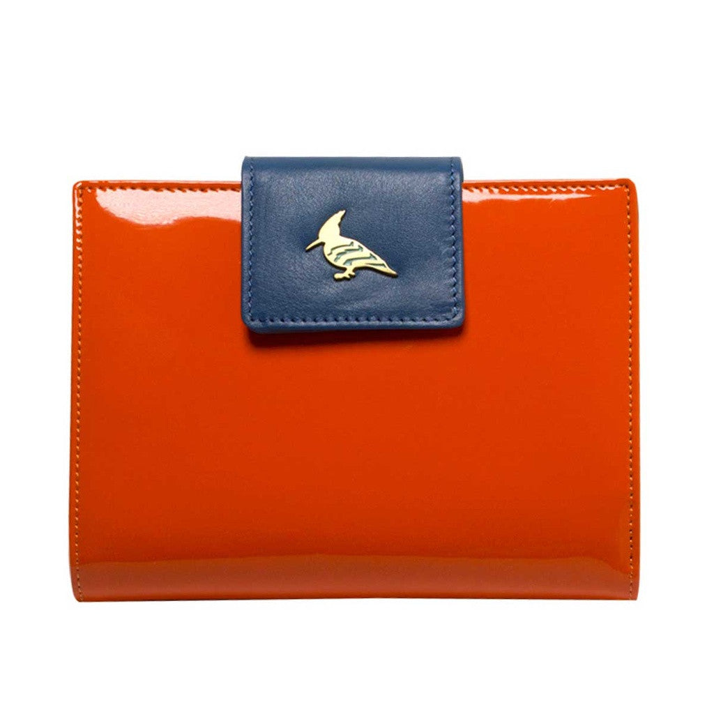 Orange Patent Leather  Wallet - Wren