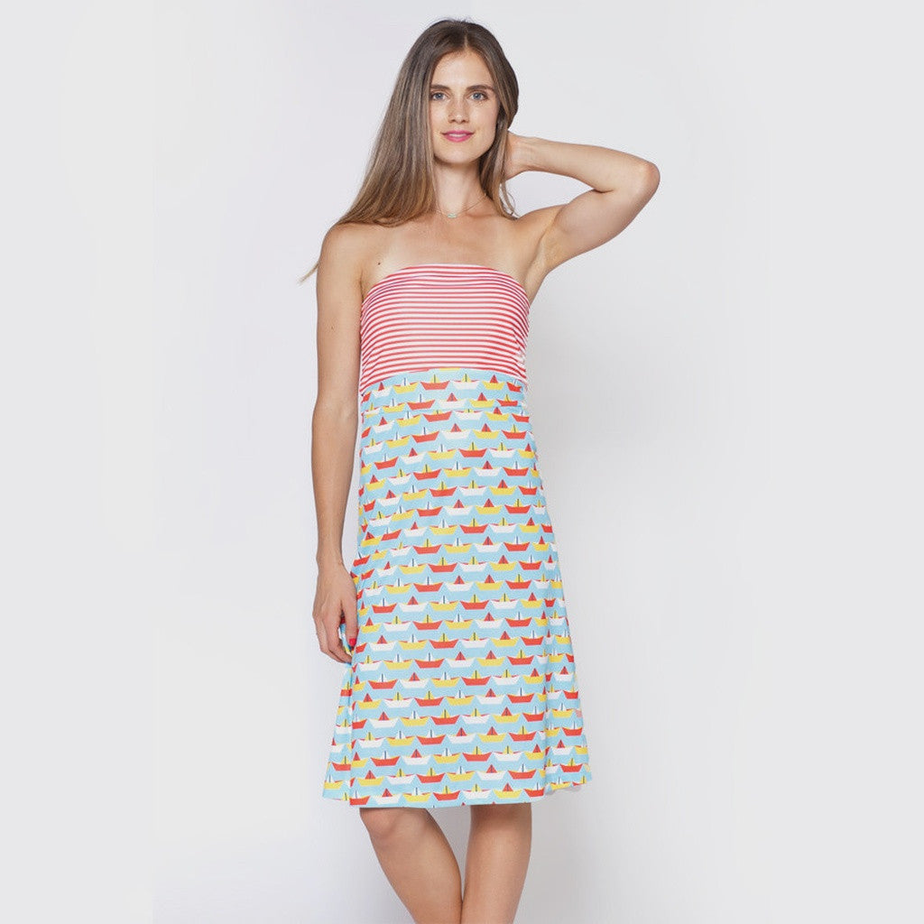 The Frances Dress, Mixed Nautical Print