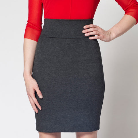Perfect Pencil Skirt in Grey Ponte