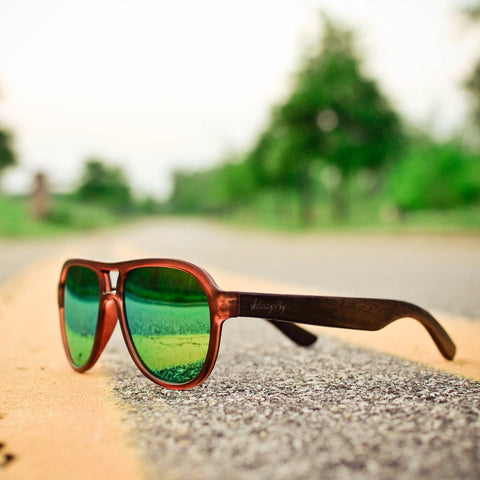 Fighter Ebony Wood Sunglasses