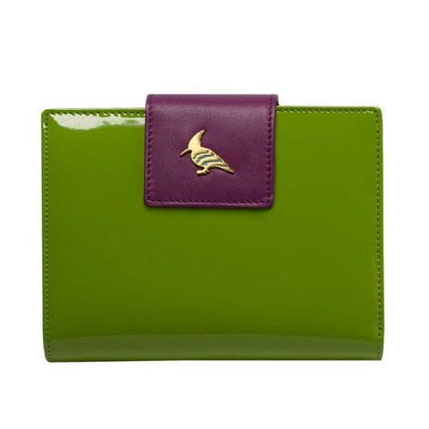 Green Patent Leather  Wallet - Wren