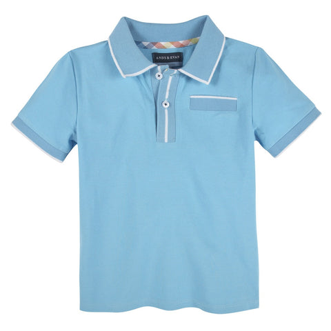 Teal Polo with Ribbing