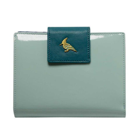 Light Blue Patent Leather  Wallet - Wren