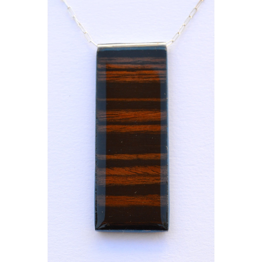 Medium Zebra Wood Pendant