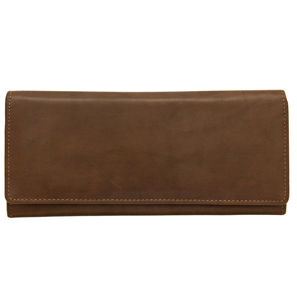 Rfid Blocking Classic Leather Wallet - Toffee