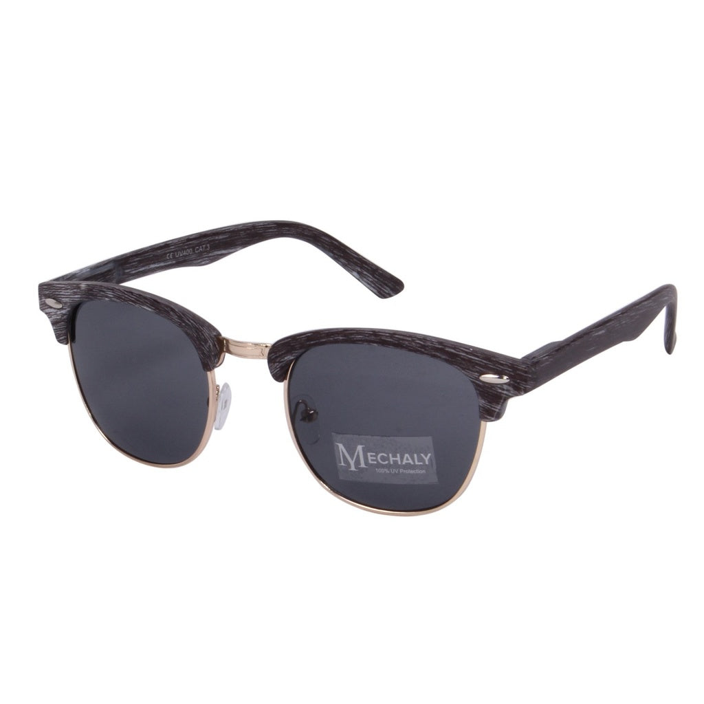 Clubmaster Style Grey Sunglasses