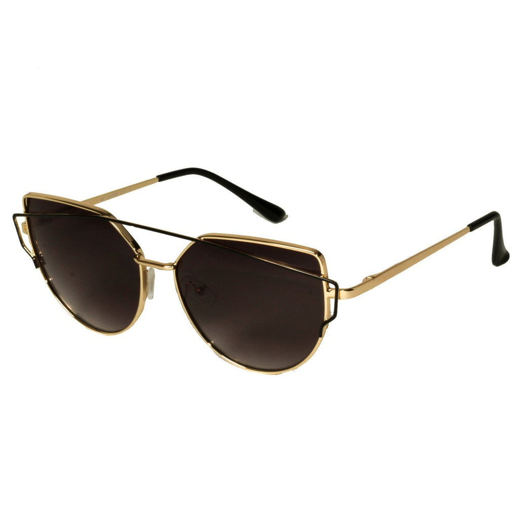 Cat Eye Style Gold Sunglasses